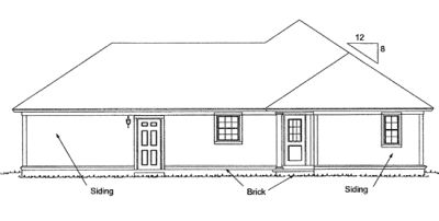 Rear Elevation Plan: 11-319