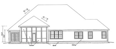 Rear Elevation Plan: 11-320