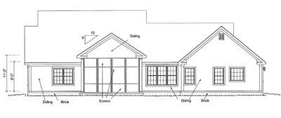 Rear Elevation Plan: 11-323