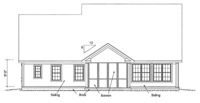 Rear Elevation Plan: 11-324