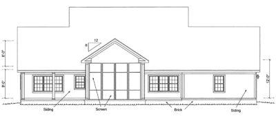 Rear Elevation Plan: 11-325