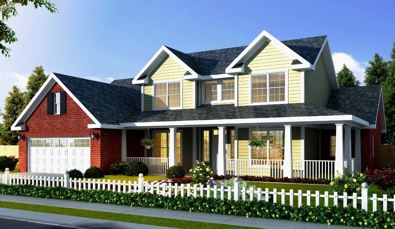 Country Style House Plans Plan: 11-326