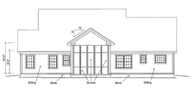 Rear Elevation Plan: 11-326