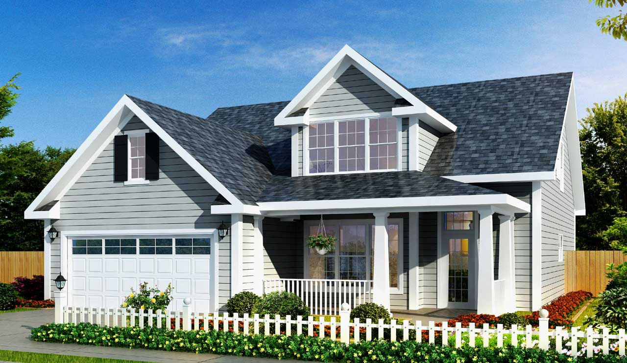 Traditional Style Home Design Plan: 11-327