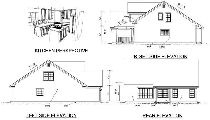 Rear Elevation Plan: 11-327