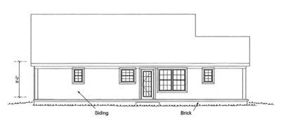 Rear Elevation Plan: 11-328