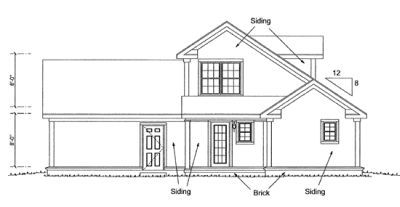 Rear Elevation Plan: 11-329