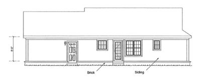 Rear Elevation Plan: 11-332