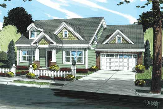 Craftsman Style Home Design Plan: 11-333