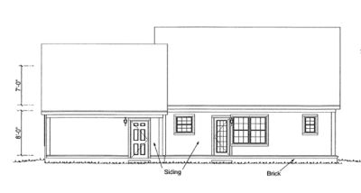 Rear Elevation Plan: 11-333