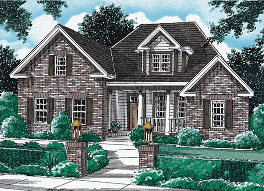 Traditional Style Home Design Plan: 11-334