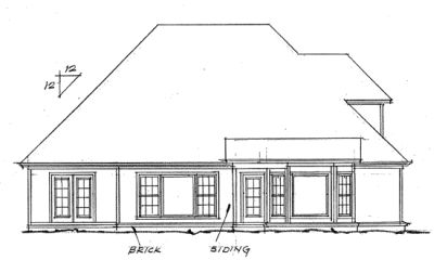 Rear Elevation Plan: 11-334