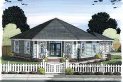 Country Style Home Design Plan: 11-383
