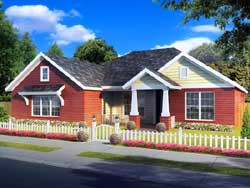 Craftsman Style Home Design Plan: 11-423