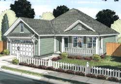 Craftsman Style Home Design Plan: 11-426