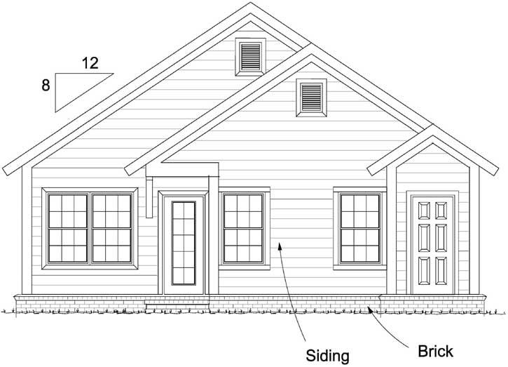 Rear Elevation Plan: 11-439