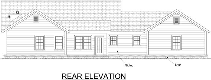 Rear Elevation Plan: 11-444