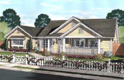 Country Style Home Design Plan: 11-444