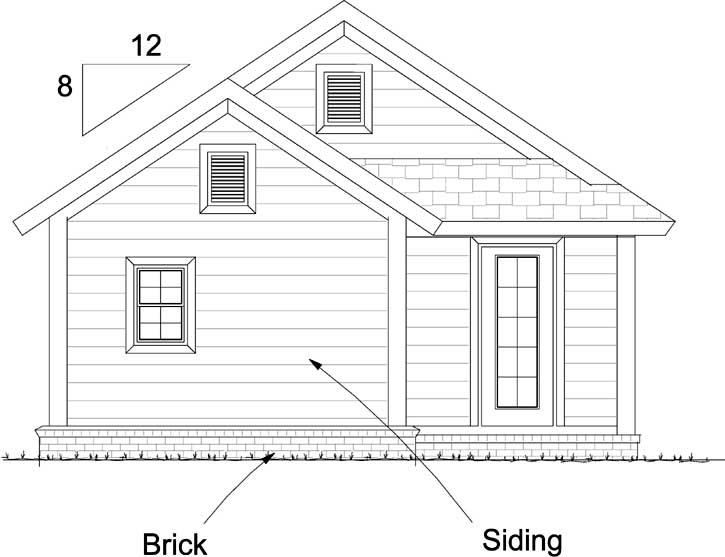Rear Elevation Plan: 11-481