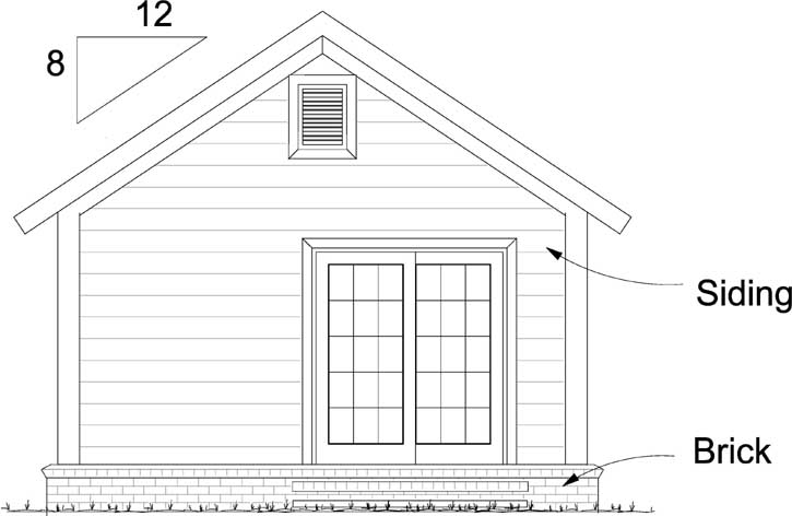 Rear Elevations Plan:11-482