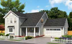 Traditional Style Home Design Plan: 11-492