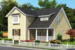 Craftsman Style Home Design Plan: 11-495