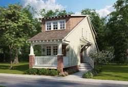 Craftsman Style Home Design Plan: 111-139