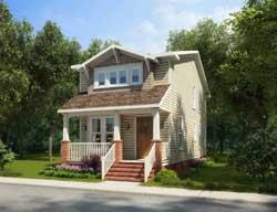 Craftsman Style Home Design Plan: 111-141