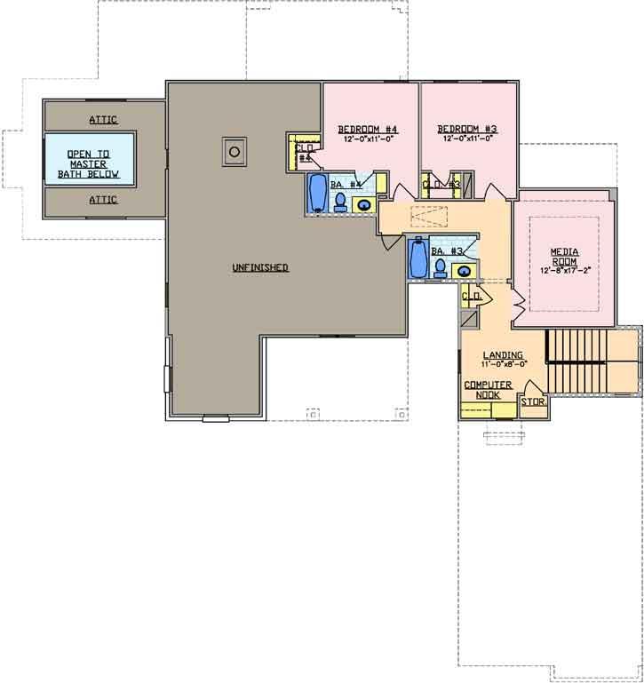 Upper/Second Floor Plan: 112-101