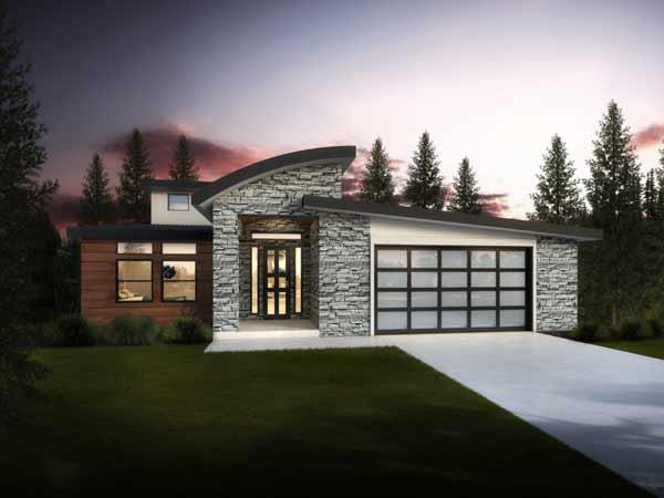 Modern Style House Plans Plan: 115-108