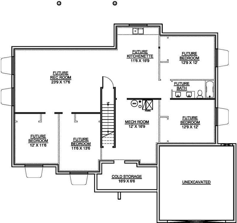 Lower Floor Plan: 115-122