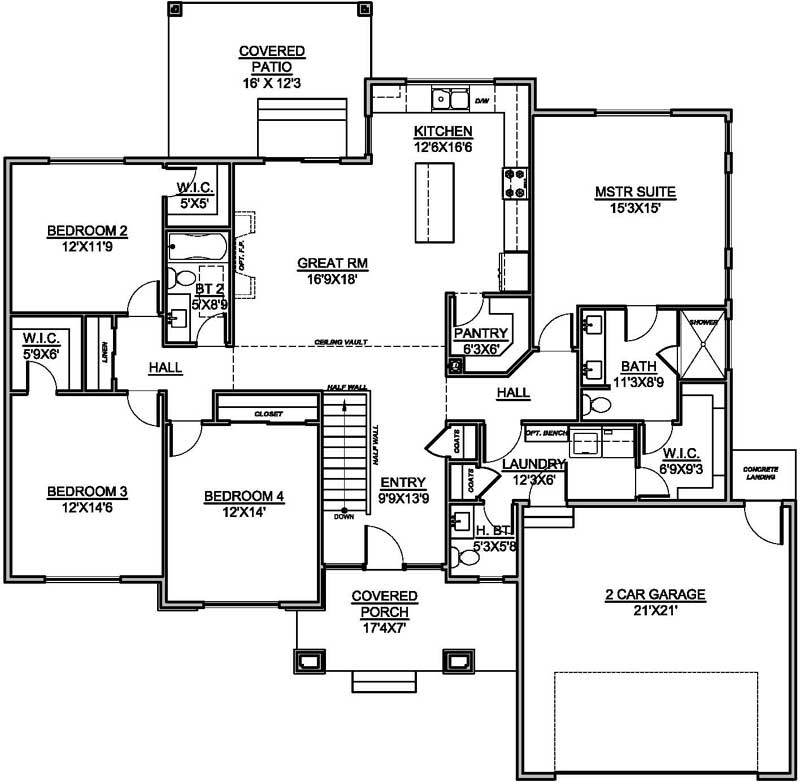Main Floor Plan: 115-122