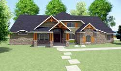 Mountain-or-Rustic Style Floor Plans Plan: 116-105