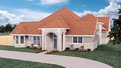 Mediterranean Style House Plans Plan: 116-106