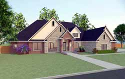 European Style Home Design Plan: 116-107