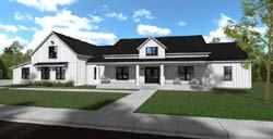 Modern-Farmhouse Style House Plans Plan: 117-101