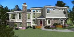 Contemporary Style Floor Plans Plan: 118-103
