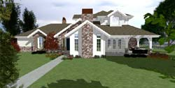 Traditional Style Home Design Plan: 118-104