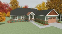 Craftsman Style Floor Plans Plan: 119-101