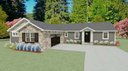 Craftsman Style House Plans 119-102