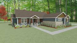 Craftsman Style House Plans 119-104