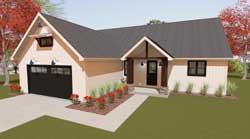 Modern-Farmhouse Style House Plans Plan: 119-105