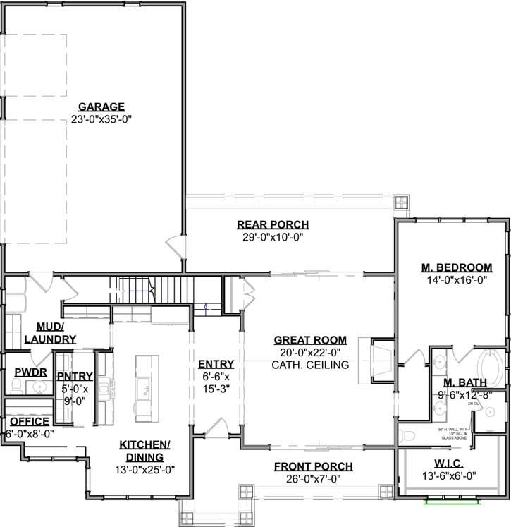 Main Floor Plan: 119-107
