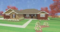 Ranch Style House Plans Plan: 119-109