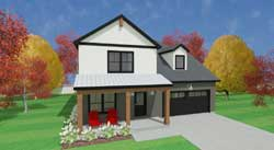 Country Style Home Design 119-110