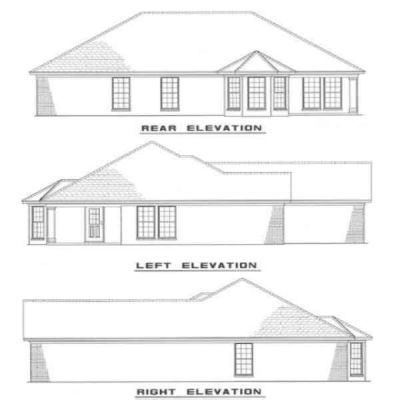 Rear Elevation Plan: 12-1006