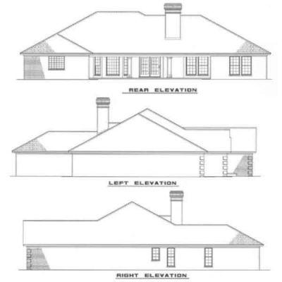 Rear Elevation Plan: 12-1008