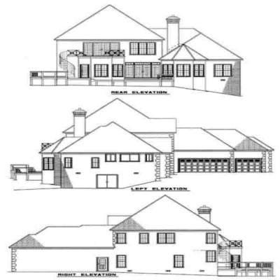 Rear Elevation Plan: 12-101