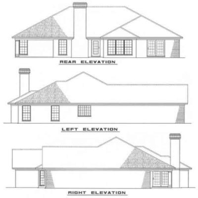 Rear Elevation Plan: 12-1012