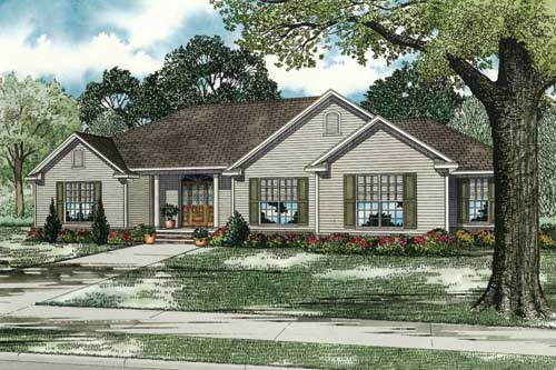 Traditional Style Floor Plans Plan: 12-1017